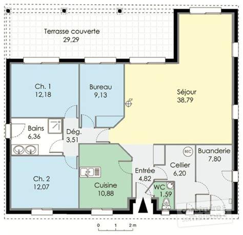plan de maison 3 chambres salon trendy excellente plan de maison plain pied maison