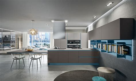 cuisine couleur gris bleu cuisine ouverte bleue gris recherche deco