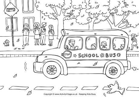 Halloween Childrens Books 2017 by Bus Colouring Page