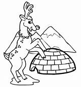 Coloring Pages Igloo Winter Reindeer Clip Architecture Printable Buildings Near Popular Drawing Filminspector Drawings Kb sketch template