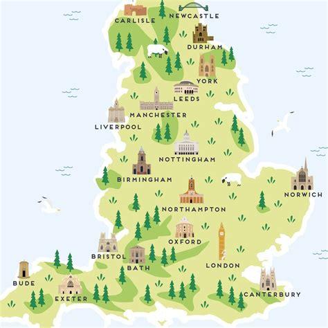 map  england print  pepper pot studios