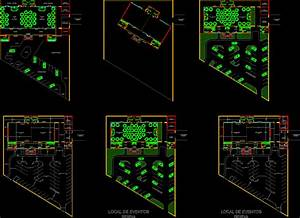 Event And Party Space For 250 In Autocad