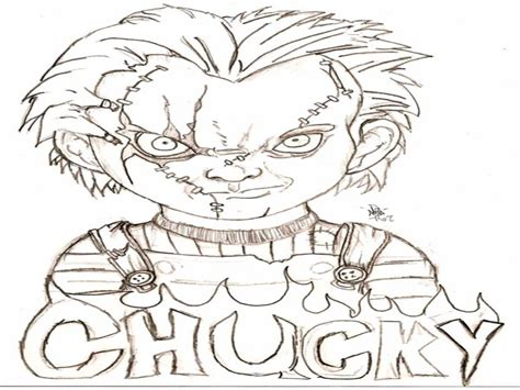 Chucky Doll Coloring Pages Sanfranciscolife