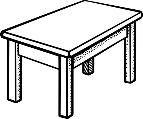 black and white table l best table clipart 12514 clipartion com