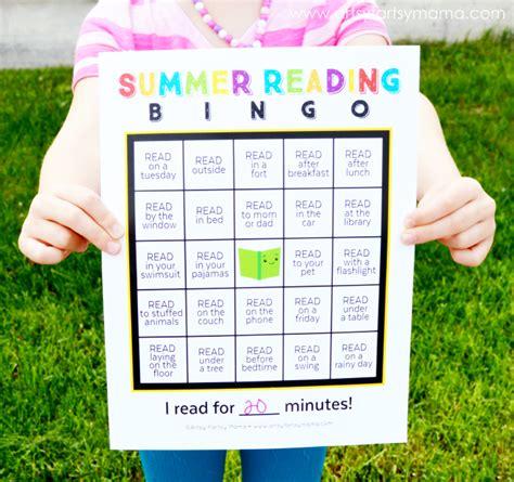 Free Printable Summer Reading Bingo  Artsyfartsy Mama