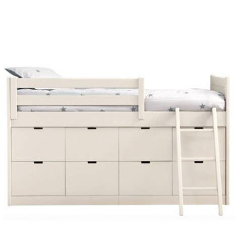 chambre gris et fushia lit enfants juniors avec 8 tiroirs de rangement liso block