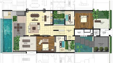 villa floor plans villa design plans house plans 44621