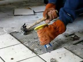 Removing Grout From Porcelain Tile by How To Remove Tile The Easy Way Be Your Own Handyman