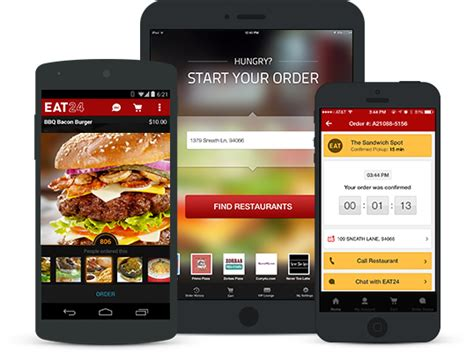 application android cuisine food delivery restaurants delivery eat24 order