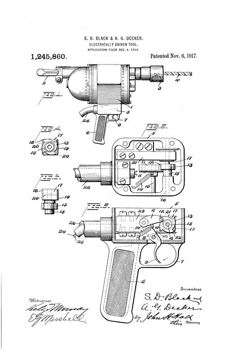 Patent US1245860 - Electrically-driven tool. - Google Patents