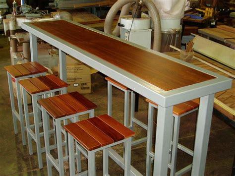 narrow pub tables  stools narrow tall style  bar