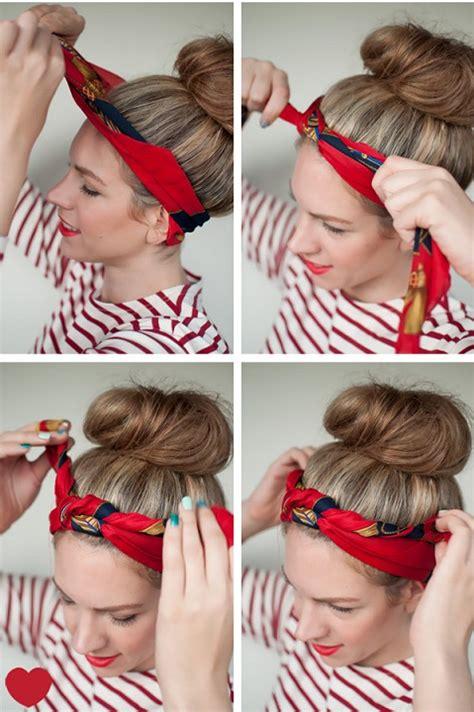 tuto nouer foulard cheveux