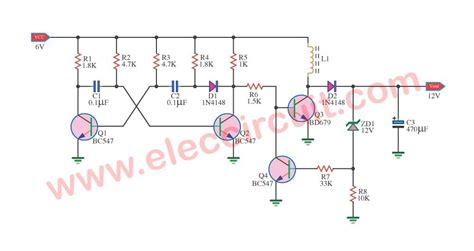 Simple Boost Converter Circuit Using