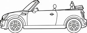free cars mini cooper coloring pages With smart car convertible