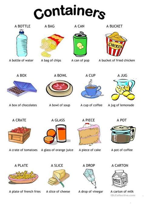 containers english language learning english language
