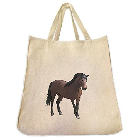 tote morgan horse bag reusable friendly eco cotton shopping twill grocery extra
