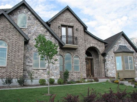 Rock Brick Combination Exterior Home  Home Improvement