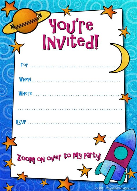 printable boys birthday party invitations birthday