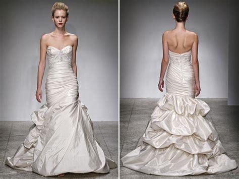 Ivory Duchess Satin Drop-waist Trumpet Wedding Dress By