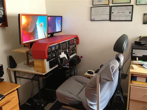 diy flight simulator cockpit deutsch