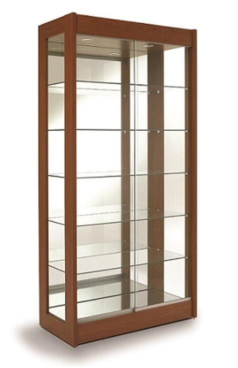 vitrine verre et bois vitrine haute bois modele nuit doree