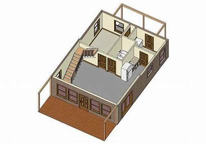 Plans Cabin Loft Floor Plan Stairs 32