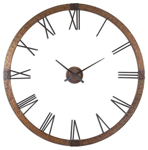 Uttermost Wall Clocks by Uttermost 06655 Amarion 60 Quot Copper Wall Clock