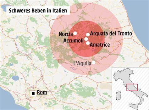 Erdbeben Italien 2016 Karte