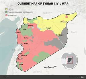 Current map of Syrian civil war - infographic - Anadolu Agency