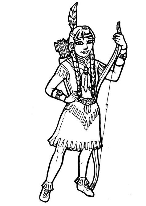 coloring page indian girl img