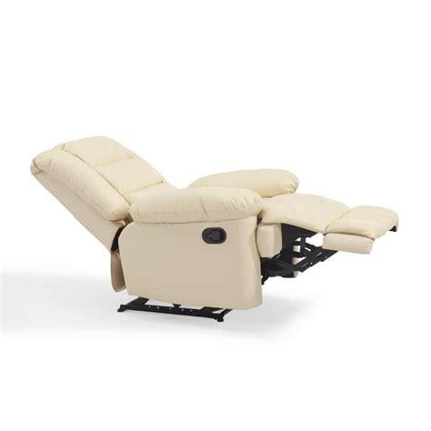 volupto fauteuil de relaxation en cuir ivoire achat