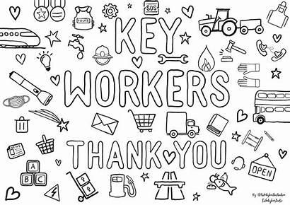 Colouring Coronavirus Key Workers Drawing Appreciation