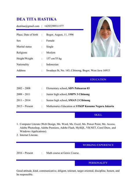 Professional Resume Exles by Cv Resume Contoh Resume Exles By Professional Resume