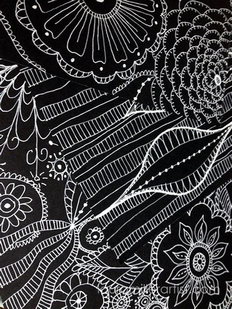 Trad Home Photographers Dreamy New Book by White Pen On Black Paper Doodles Miller