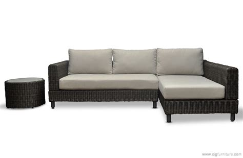 Outdoor Sectional Sofa With Chaise by Wicker Outdoor Modular Corner Sofa Chaise Patio Lounge
