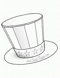 top hat coloring page coloring home With top hat template for kids