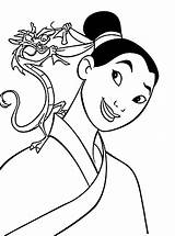 Mulan Coloring Pages Printable Disney Dragon Princess Outfit Cartoon Sheets Colouring Books Printables Colorat sketch template