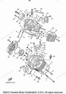 Yamaha Motorcycle 2004 Oem Parts Diagram For Cylinder Head