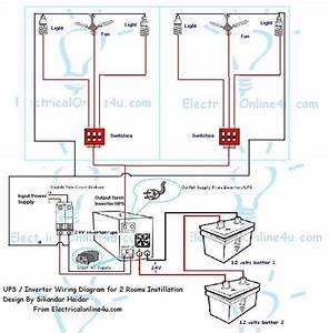 How To Install Ups  U0026 Inverter Wiring In 2 Rooms   With