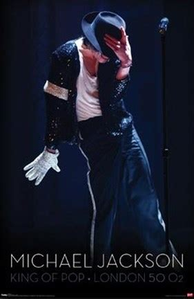 michael jackson king  pop glove wall poster
