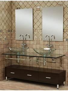 Vasque En Verre Salle De Bain : la vasque en verre fonctionnelle et tr s d co ~ Edinachiropracticcenter.com Idées de Décoration
