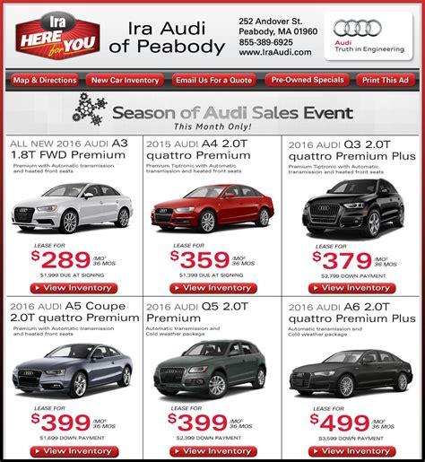 ira audi service 2 for 1 car deals carsjp