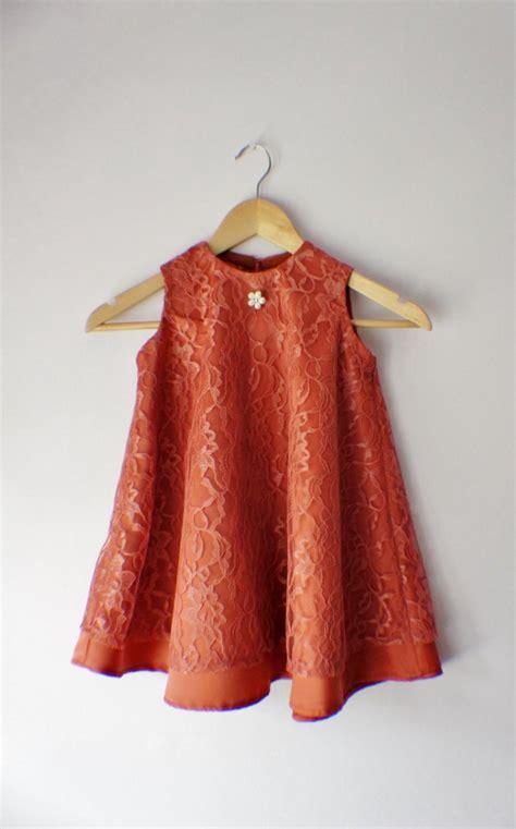 flower girl dress lace dress orange dress birthday