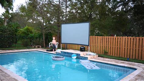 Backyard Theater Screen by Backyard Theater System