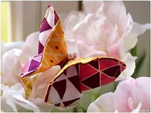 Bedeutung Schmetterling In Der Wohnung : origami schmetterling aus stoffresten n hen handmade kultur ~ Watch28wear.com Haus und Dekorationen