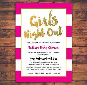Bachelorette Party Girls Night Out Invitation Card by ...