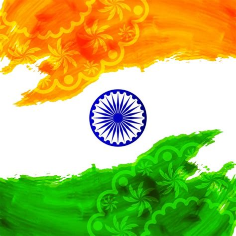 Watercolor background of India Vector