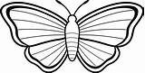 Butterfly Coloring Simple Clip Outline Drawing Line Easy Azcoloring sketch template