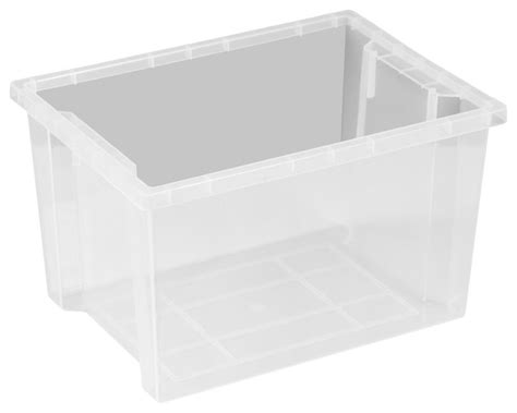large storage bin without lid clear contemporary