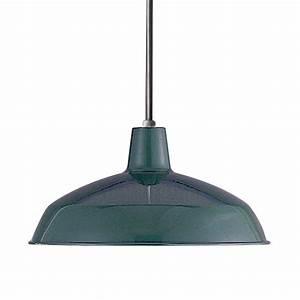 Volume international in w dark green pendant